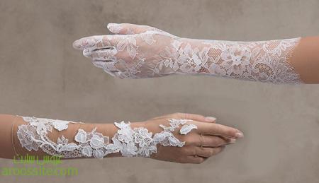 دستکش با گیپور عروس, دستکش ست لباس عروس